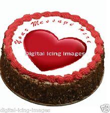 love heart Cake topper edible digital image icing  REAL FONDANT