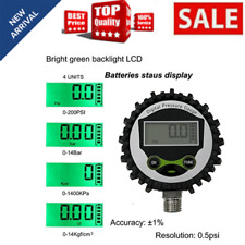 Digital Gas Pressure Gauge With 14 Npt Bottom Connector And Rubber Protector