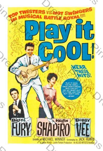 """Poster Vintage Rock n Roll Movie Art Billy Fury /""""Play it Cool/"""" re-print"""