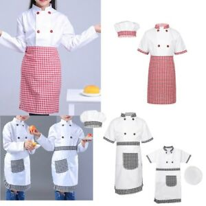 Chef Costume Kids Children Fancy Dress Chef Uniform Cosplay Party Halloween Set