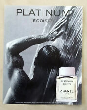 C100-Advertising Pubblicità-1998- CHANEL PLATINUM EGOISTE PARIS
