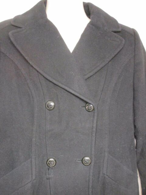 Marc New York Tamara Double-Breasted Brushed Twill Pea Womens Coat NWT MSRP $270