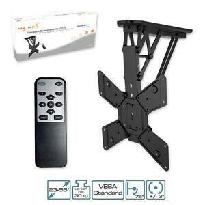 Support de t l viseur motoris avec t l commande ir pliable montage au plafond ebay - Support plafond tv motorise ...