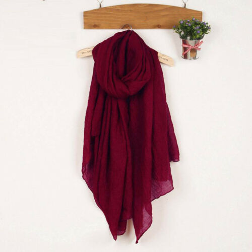 Womens Spring Large Soft Scarf Pashmina Casual Shawl Wraps In Solid Colors