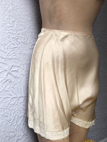 30's/40's Vintage Silk Charmeuse Lace Tap Pants em