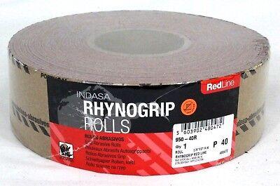INDASA 40 Grit Sticky Back Long Board Sandpaper Rhynostick 960-40 in Roll