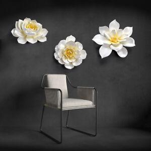 Details About Handmade Big Flower Wall Decor Set 3d Wall Sculpture Room Home Decorative Art