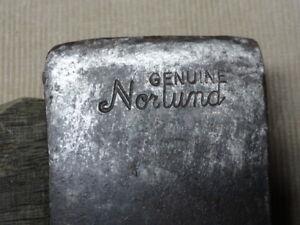 Genuine-Norlund-Vintage-Ax-Axe-Hatchet-Head-amp-Handle-Weighs-3-lb-5-oz-039-D-039