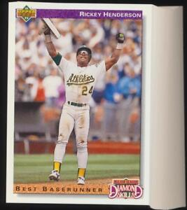 44-Card-Lot-1992-Upper-Deck-Rickey-Henderson-648-HOF-MINT-to-GEM-MINT
