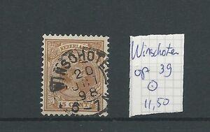 """KLEINrond """"WINSCHOTEN  20-oct-1898"""" op 36 VFU/gebr  CV 11,5 €"""