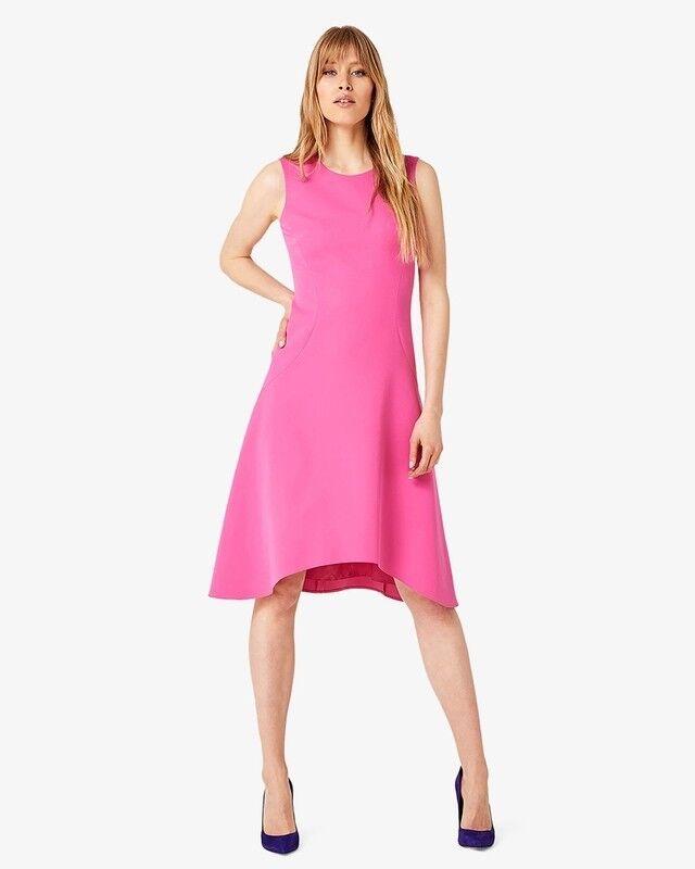 BNWT Fase Otto CAMILLA Dress Fluoro rosa Taglia 8