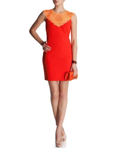 Dentelle Garniture orange En Femmes Baker Avec Ted S3 Rouge des Robe 12 Uk étiquettes Nouveau 0SqvPq