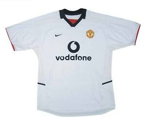 Manchester United 2002-03 ORIGINALE AWAY SHIRT (eccellente) L soccer jersey