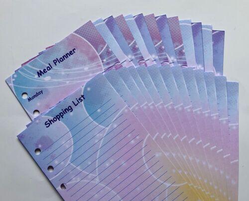 Personal Filofax Bubble Paper Set Complete Set of Information Pages 60 Pages