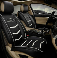 Black Leather Car Seat Covers Full Pack Jeep Cherokee Compass Patriot