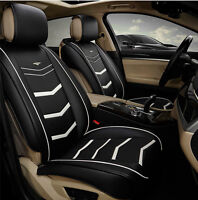 Black Leather Car Seat Covers Volkswagen Passat Polo Jetta Golf Tiguan Gti