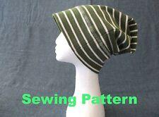 summer winter fall men women slouchy jersey beanie hat SEWING PATTERN, PDF FILES