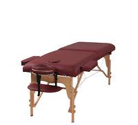 "Heaven Massage Burgundy 3"" Portable Massage Table w/Free Carry Case & Accessorie"