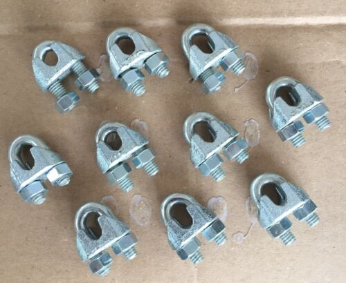 Hillman 10 Pack 1//4 Inch Wire Rope Cable Clip Clamp