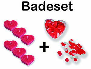 Badekonfetti cuore con candele per vasca da bagno p es - Candele per bagno ...