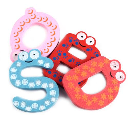26 Holzbuchstaben ABC Kühlschrank Magnete Magnet Buchstaben Set Alphabet Kinder