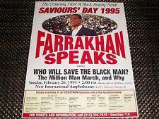 SAVIOURS' DAY 1995 Poster 8 x 11 (Louis Farrakhan,Nation of Islam)