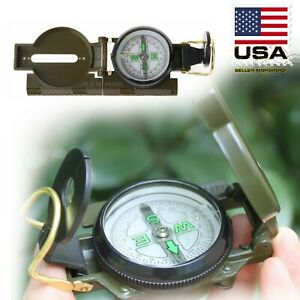 New US Metal Pocket Army Style Compass Military Camping Hiking Survival Marching