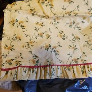 Waverly Valance Gold Floral With Ruffles 14 X 60 Ebay