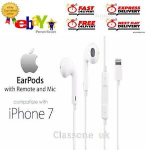100% Oficial Genuino APPLE EARPHONES IPHONE 7 8 7 Plus X
