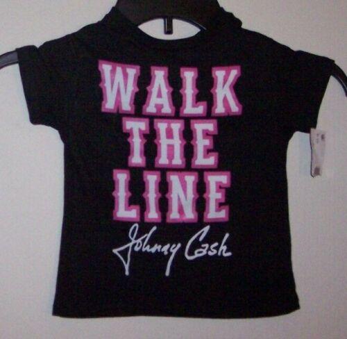 Johnny Cash Walk the Line Newborn Infant Girl Rock /& Roll Shirt Size 12 Months