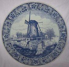 Wandteller Keramik Delft`s blauw  Chemkefa  30 cm -   Holland