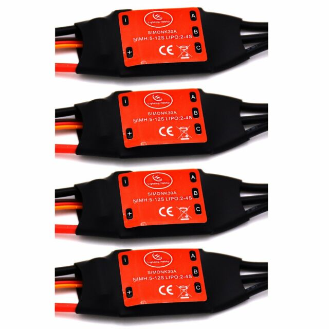 4pcs 30A Brushless speed controller ESC MultiCopter KK Quad-rotor X-copter  I