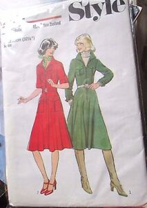 STYLE-SEWING-PATTERN-Ladies-dress-2104-size-10-unused