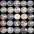Muticolor Nail Art Tips Decoration 3D Acrylic Glitter Rhinestones DIY Wheel Sets