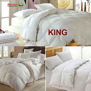 Image Is Loading King Size Royal Comfort Goose Feather Amp Down