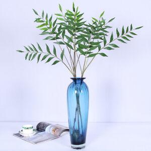 Am-FT-KQ-KE-1-Branch-Artificial-Plastic-Plant-Leaves-Foliage-Wedding-Home-De