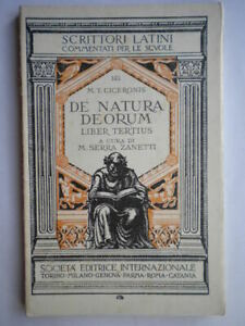 De natura deorum terzo libro III 3 SEI latino scuola liceo Serra Zanetti dei 51