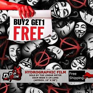 LM OPERA V MASKED MAN HYDROGRAPHIC WATER TRANSFER FILM HYDRO DIPPING DIP DEMON