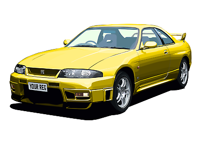 POSTER - CHOOSE REG /& Colour PERSONALISE Car BMW E46 M3 - A4, A3, A2 Size