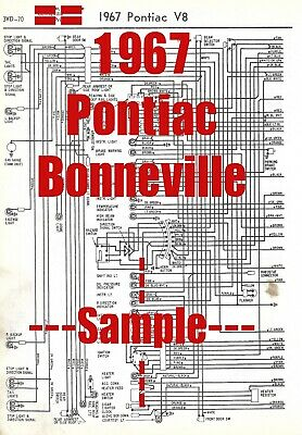 1967 Pontiac Bonneville Full Car Wiring Diagram High Quality Printed Diagram Ebay