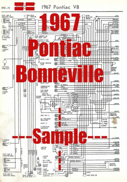1967 Pontiac Bonneville Full Car Wiring Diagram  High