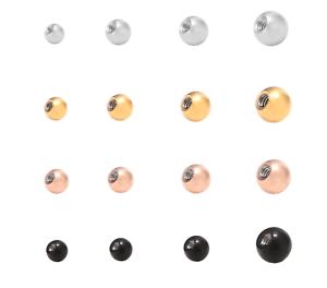 gewindekugel kugel ball chirurgenstahl ersatzkugel mit gewinde piercing ebay. Black Bedroom Furniture Sets. Home Design Ideas