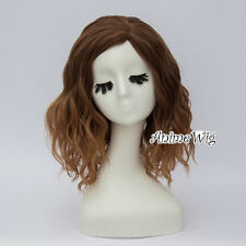 35CM Lolita Mixed Brown Ombre Curly Party Women Hair Cosplay Wig Heat Resistant