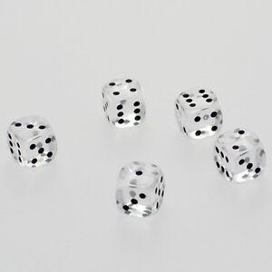 25 Stück 12mm Transparent Klar Knobel Würfel Augen Würfel Frobis Spielwürfel