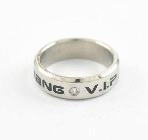 EXO/BIGBANG/SHINEE/UKISS/TEENTOP/BAP/INFINITE/TVXQ KPOP titanium steel RING
