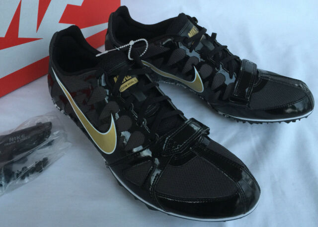 Nike Zoom Rival S Black Gold Size 6 Track Sprint Spikes 456812 071
