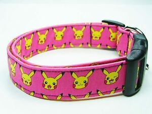 Charming Pink with Yellow Pokemon Dog Collar | eBay - photo#18