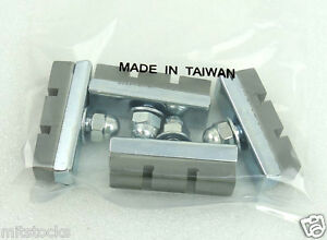10 BOLT BICYCLE BIKE SIDE PULL BRAKE PADS SHOES TAIWAN