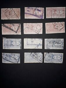 Germany Empire Lot of Freight Stamps approx. 1900-1920. USED. Free UK P&P.