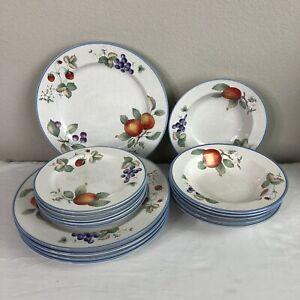 16 pc Savoir Vivre Luscious JJ017 Dinnerware Set Plates Bowls Saucers Japan